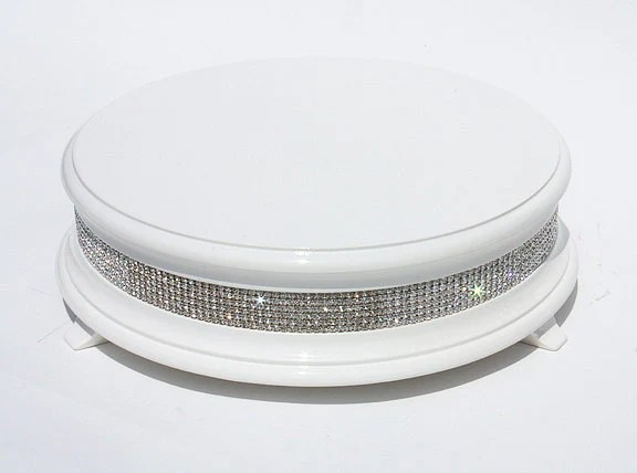 22 inch White Diamond Bling Wedding Cake Stand