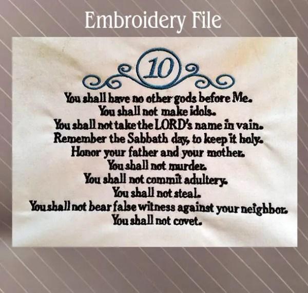 10 commandments bible # 36