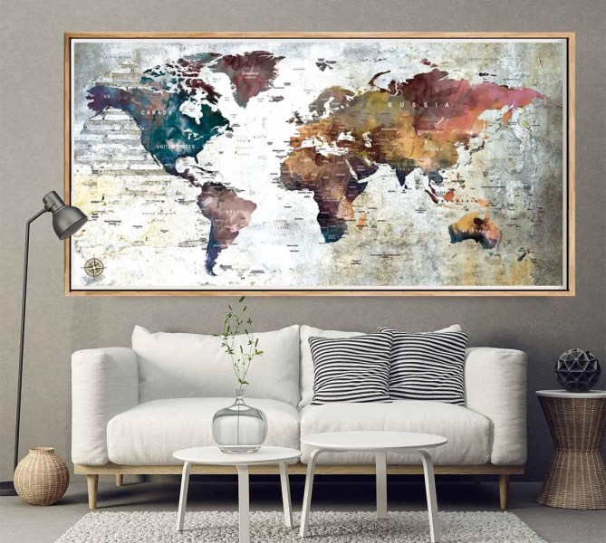 Linen world map wall art path decorations pictures full path yellow green wall tapestry by world map watercolor linen blue red yellow green wall tapestry linen world map wall art in edinburgh city centre edinburgh gumiabroncs Choice Image