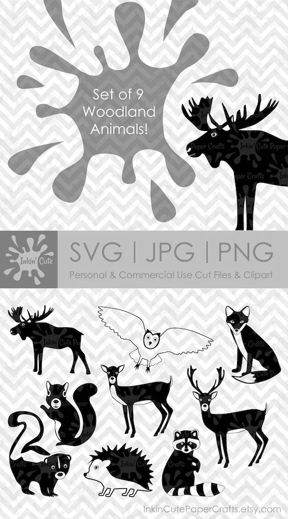 Woodland Clipart Forest Animals SVG Woodland Animals SVG ...
