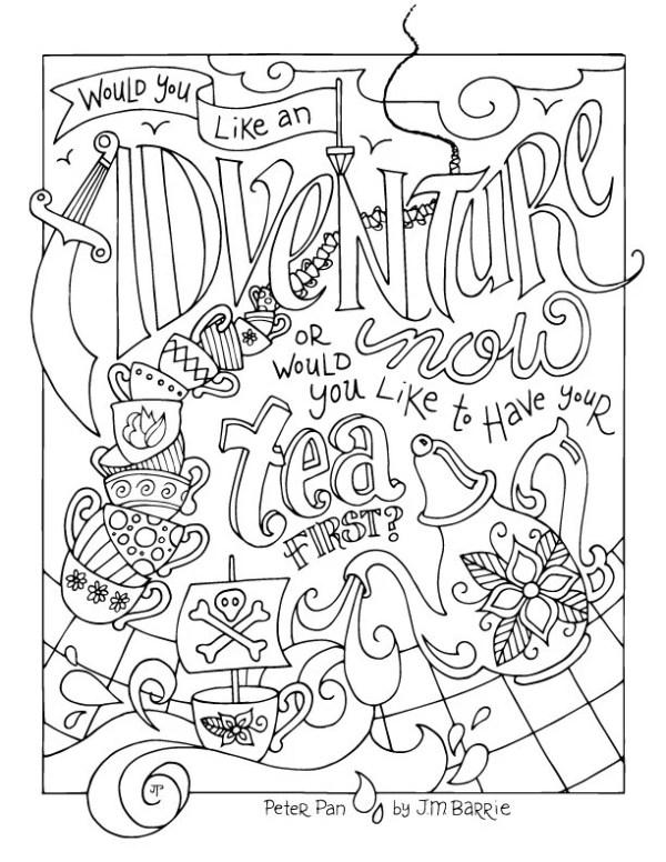 peter pan coloring page # 51