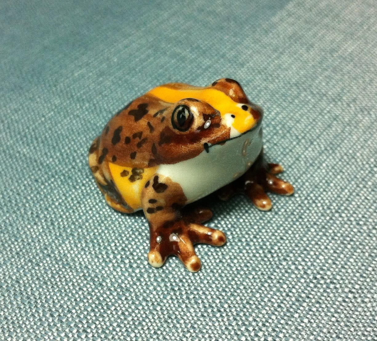 Miniature Ceramic Frog Toad Animal Cute Little Tiny Small