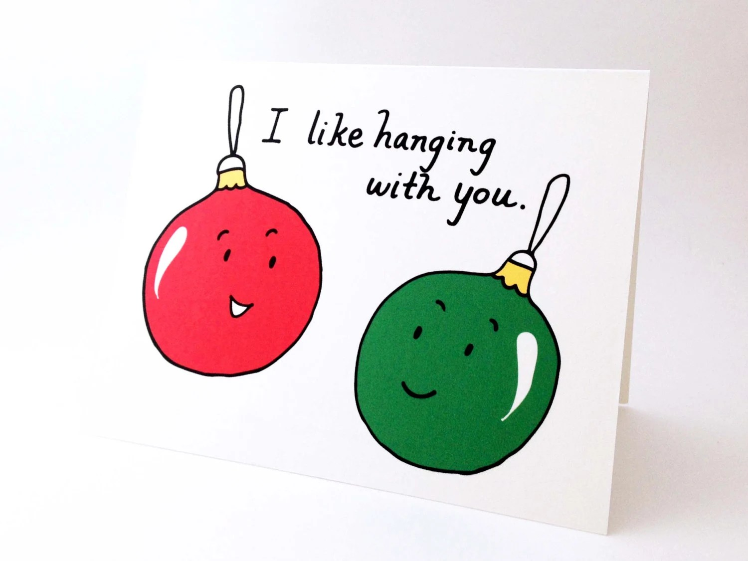 Cute Best Friend Christmas Card // Punny Holiday Love Card ...