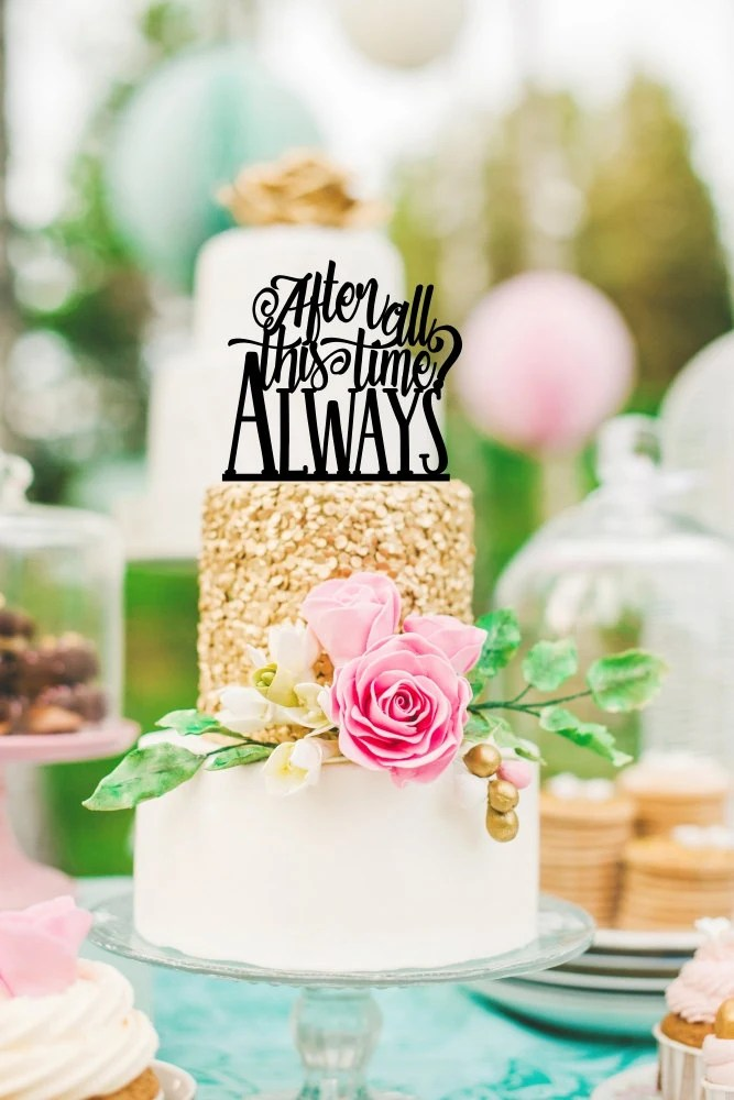 Harry Potter Wedding Cake Topper After All This Time Always   Etsy image 0