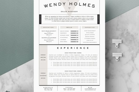 Resume Template   CV Template Cover Letter for Word 3 page   Etsy image 0