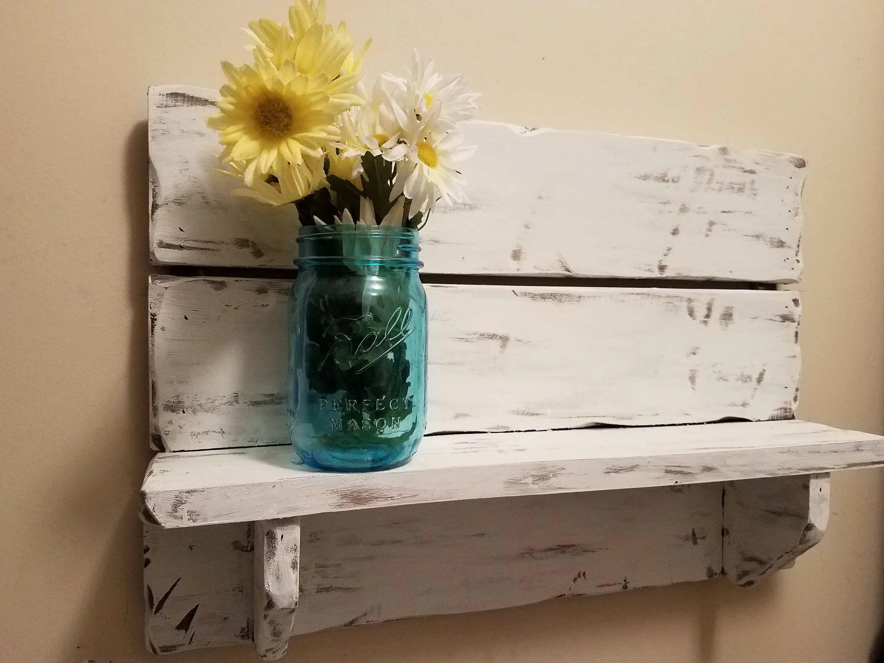 Rustic home decor   Etsy Rustic home decor  Pallet shelf  Bath Shelf  kitchen shelf  farmhouse decor   country western decor  wood shelf  Rustic Decor