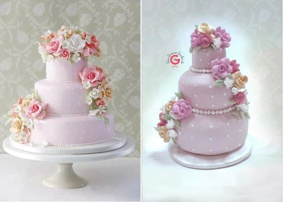 Mini wedding cake replica wedding cake ornament first year   Etsy image 0