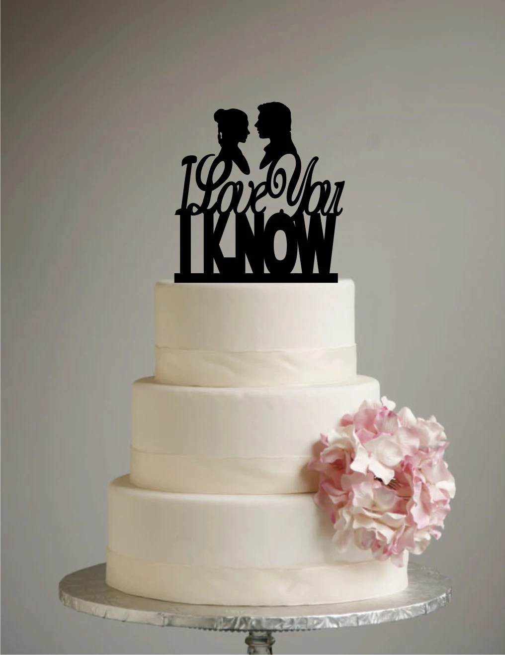 Star Wars Inspired Wedding Cake Topper I Love you I Know   Etsy image 0