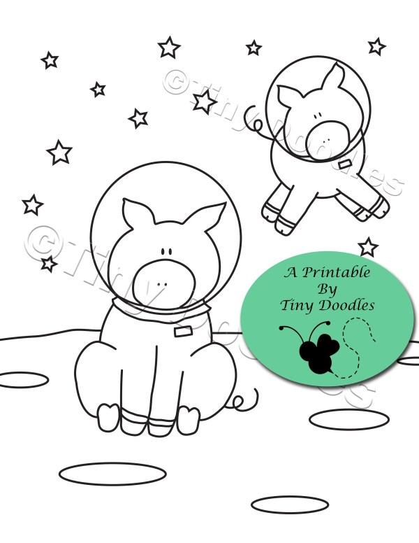 space coloring page # 13