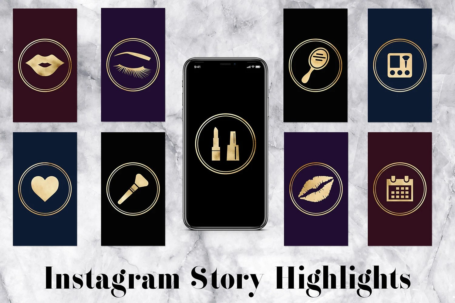 Instagram Story Highlights Icons Pack For Makeup Artist ...