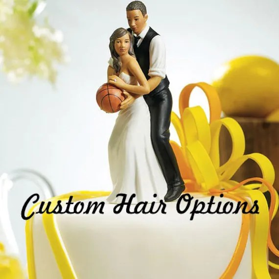 Wedding Cake Topper Basketball Couple African American   Etsy image 0