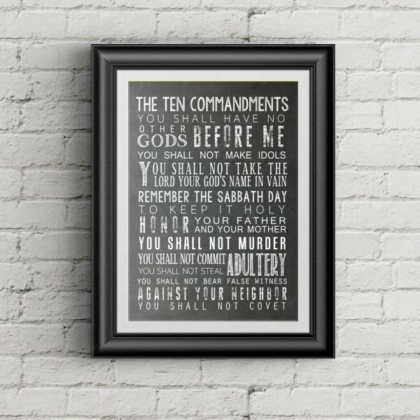 10 commandments bible # 73