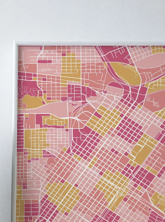 HD Decor Images » Houston map print city map modern wall art USA prints map