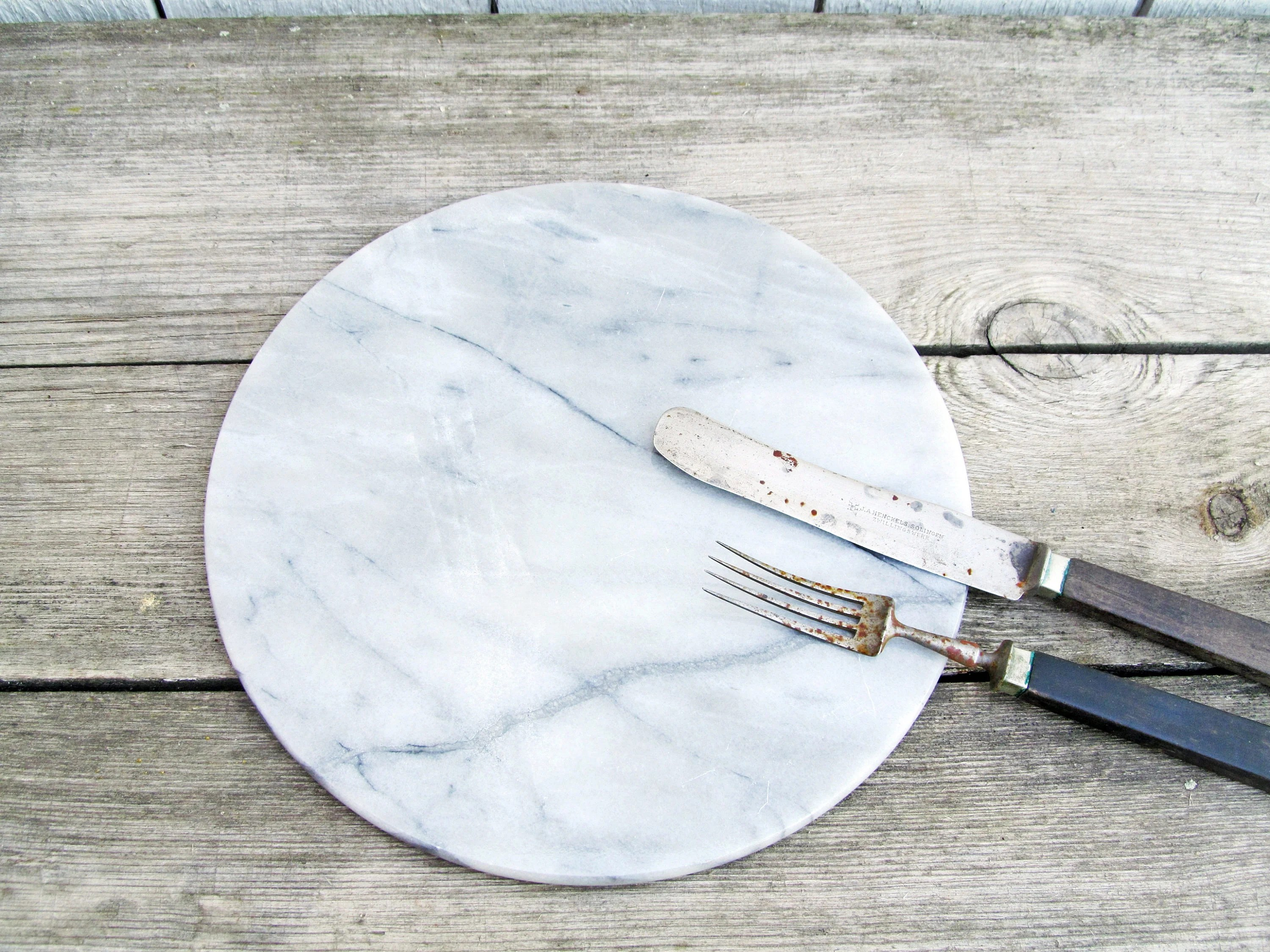 round marble cutting board Cheese Plate / Platter / Pastry ...