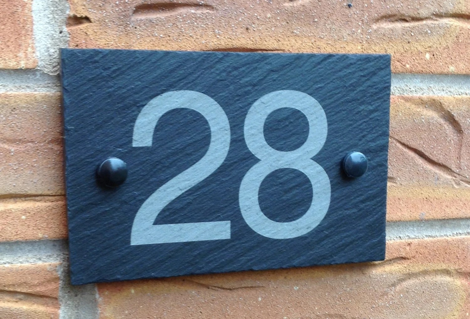 Modern Outdoor Contemporary Slate House Number  House Number Sign     Modern Outdoor Contemporary Slate House Number  House Number Sign  House  Address Sign  House Plaque