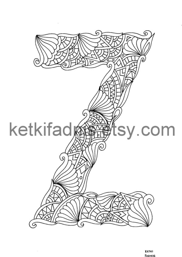 letter z coloring page # 75