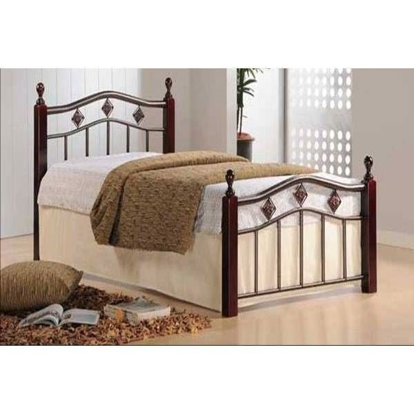 New Twin Full Queen Wood Metal Mattress Foundation Bed