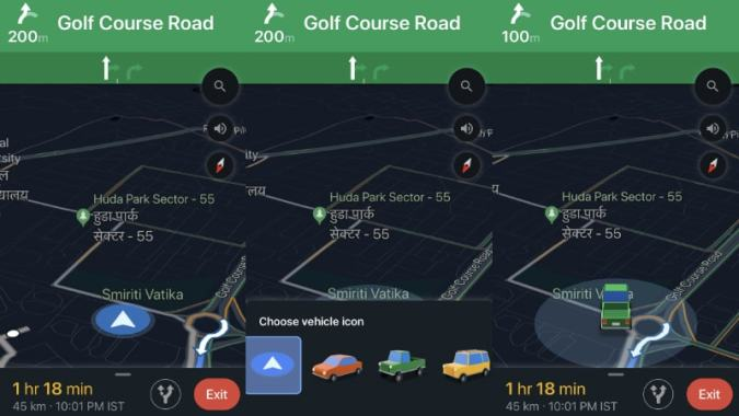 Google Maps Now Lets You Change Vehicle Icon in Driving Navigation     Google Maps Now Lets You Change Vehicle Icon in Driving Navigation