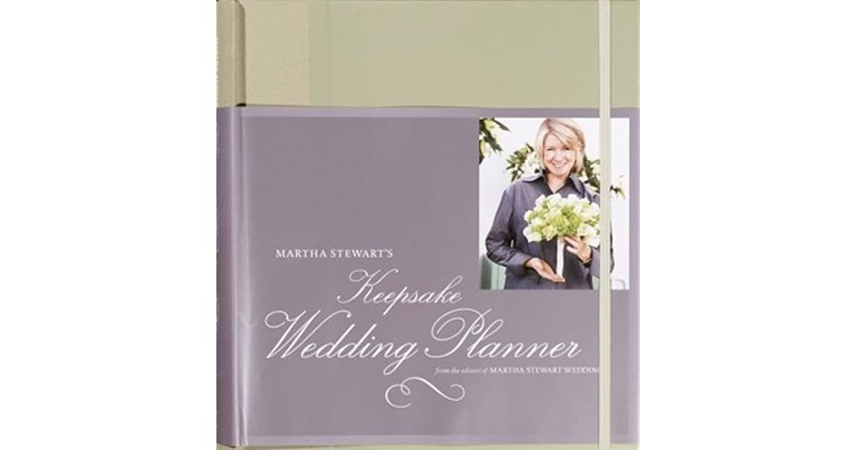 Martha Stewart Wedding Keepsake Planner