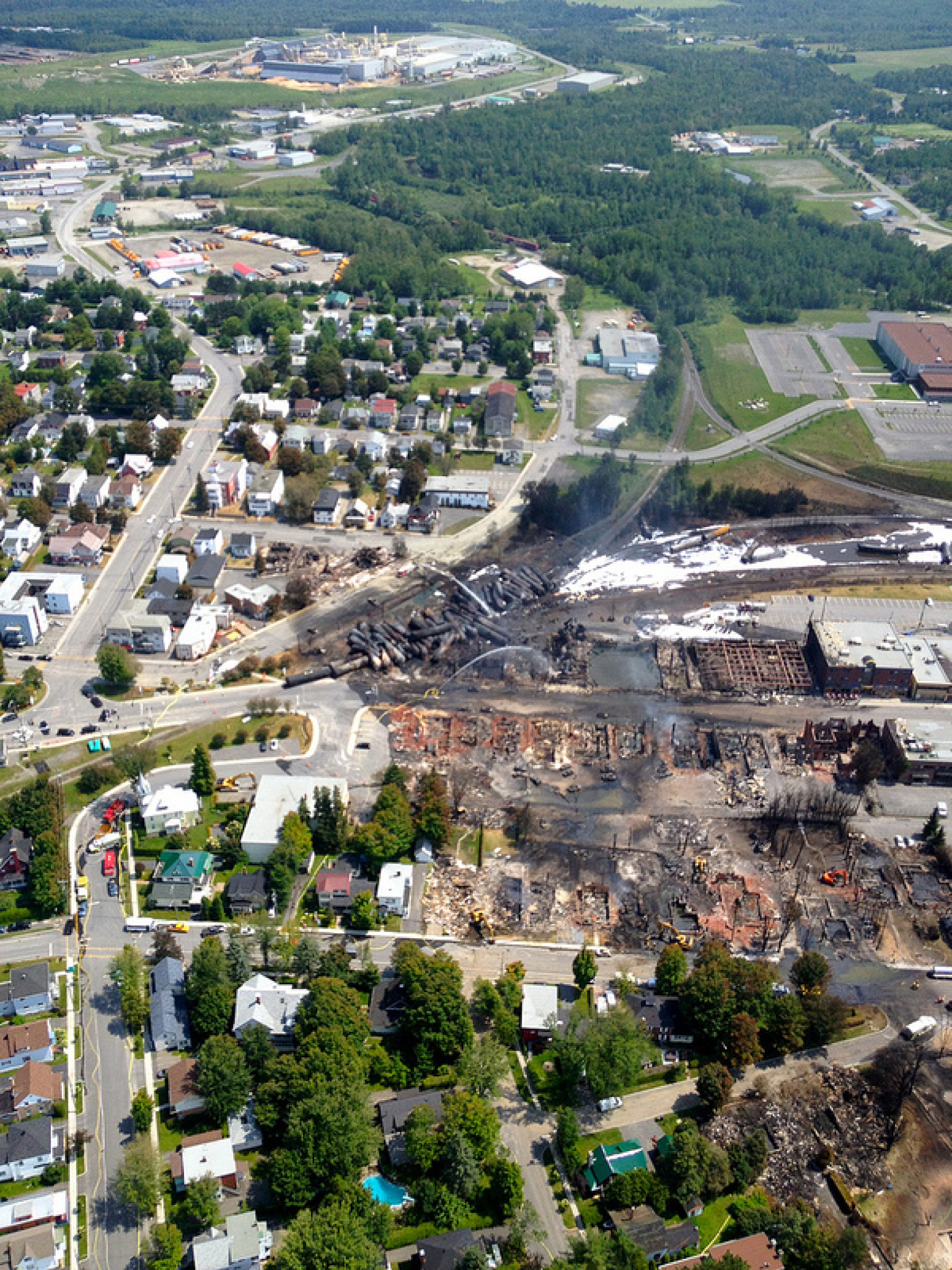 Lac Megantic Photos Show Explosion And Fire Damage From Above