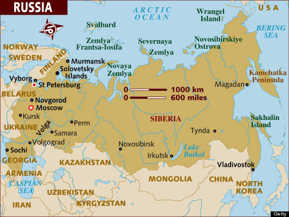 Map And Moscow Russia Sochi