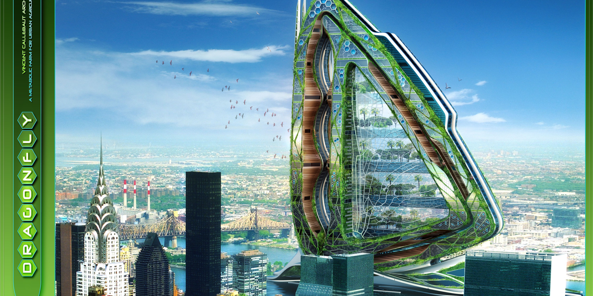 Dragonfly High-Rise Farm By Vincent Callebaut Architects ...