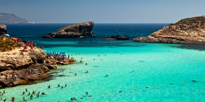 Comino Island In Malta Has A Blue Lagoon, And It's Kind Of ...