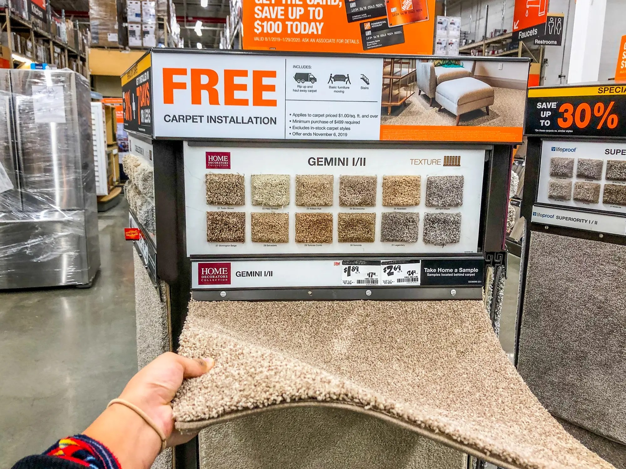 Photos Comparing Lowe S And Home Depot Show Why Lowe S Is Better | Cost To Carpet Stairs Home Depot | Wall Carpet | Stair Railing | Custom Rug | Carpet Cleaning | Carpet Rugs