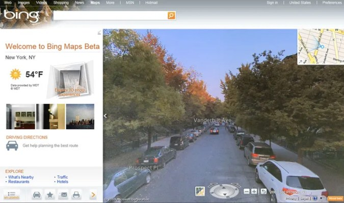 Bing Maps Take on Google With Fancy 3D Streetview Bing Maps just got a big ol  update  bringing its own fancy 3D street view  images as well as Twitter and Facebook integration
