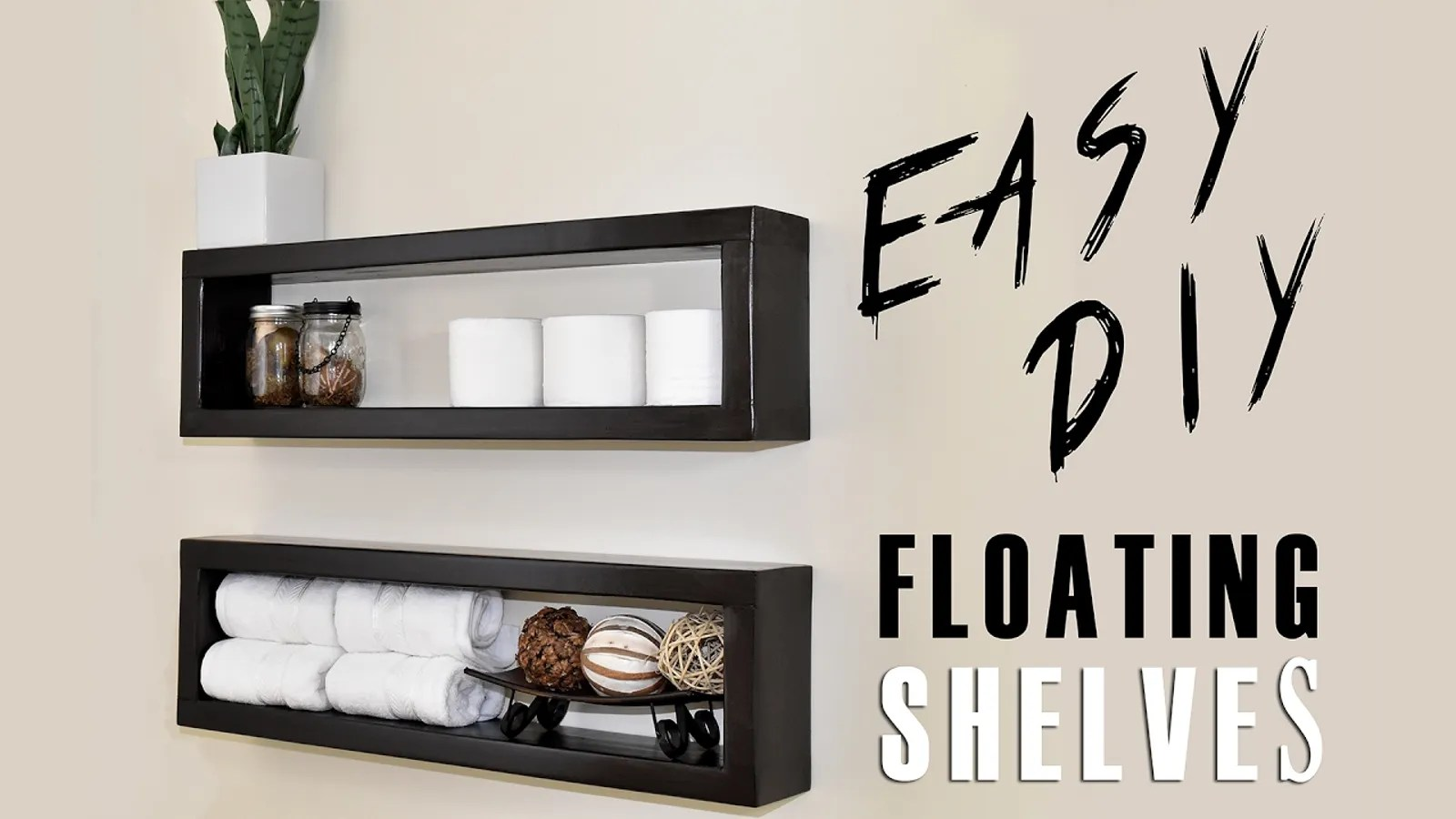 Build And Mount Your Own Floating Shelves For About Seven
