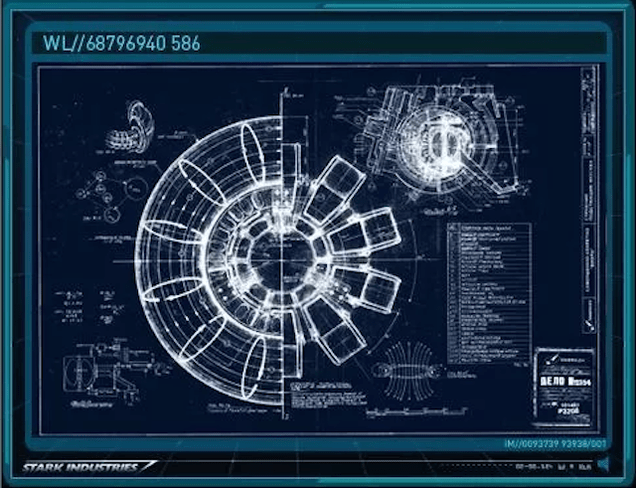 Blueprints Iron Man Repulsor