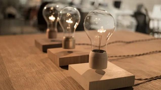 Floating Light Bulb