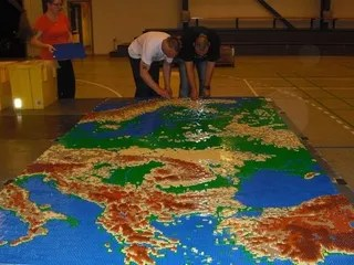 A Giant Lego Map of Europe     make out with foreign strangers  and post lots of Facebook photo albums  about it  Or  you could check out this enormous  157 square foot Lego map