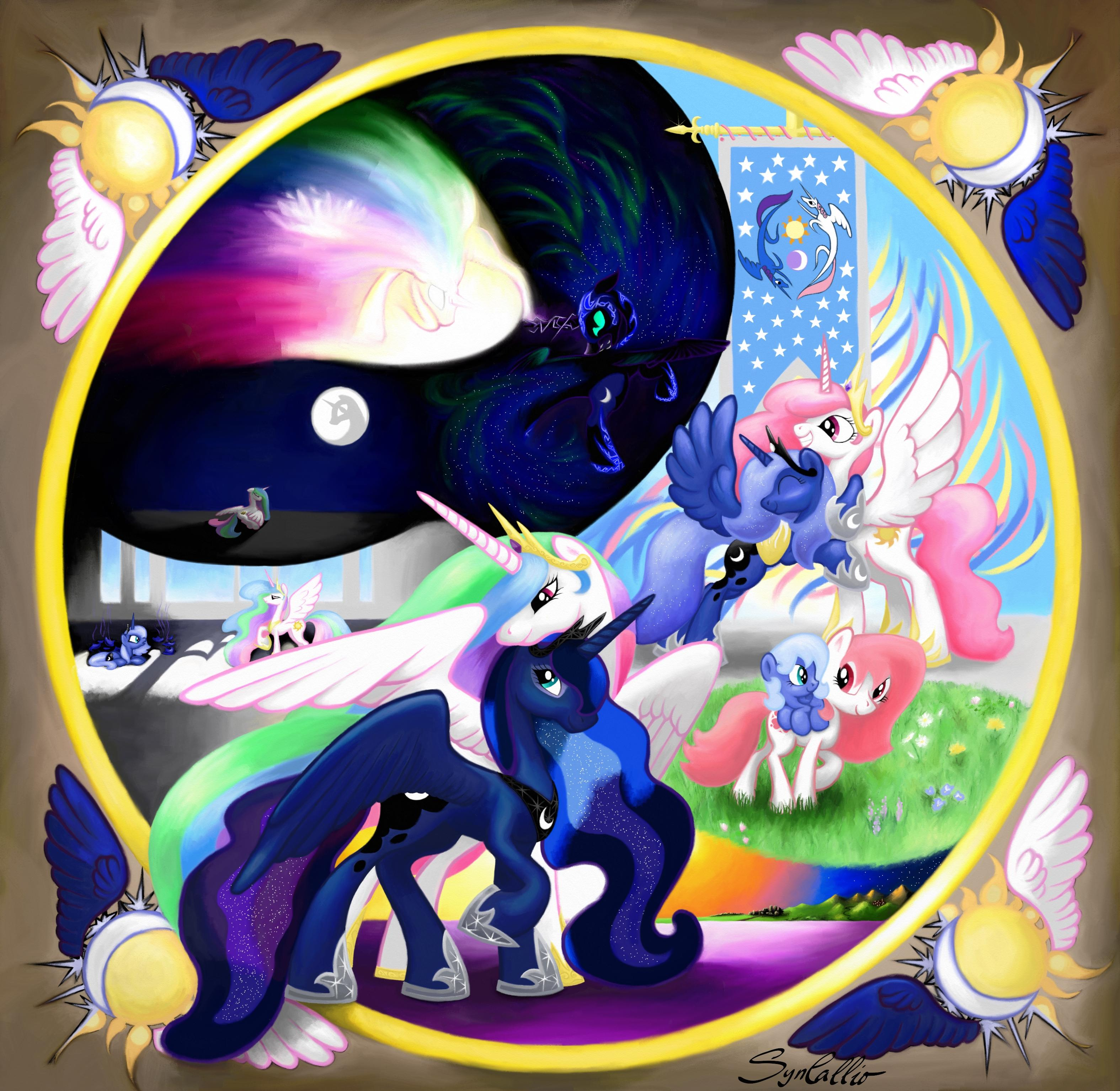 mlp celestia and luna parents - HD 3150×3068