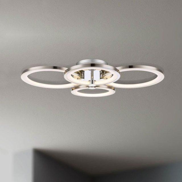 Licht-Trend Deckenleuchte »Equal LED Nickel matt, Chrom ...
