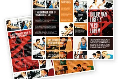 Sport Gym Brochure Template Design and Layout  Download Now  06294     Sport Gym Brochure Template