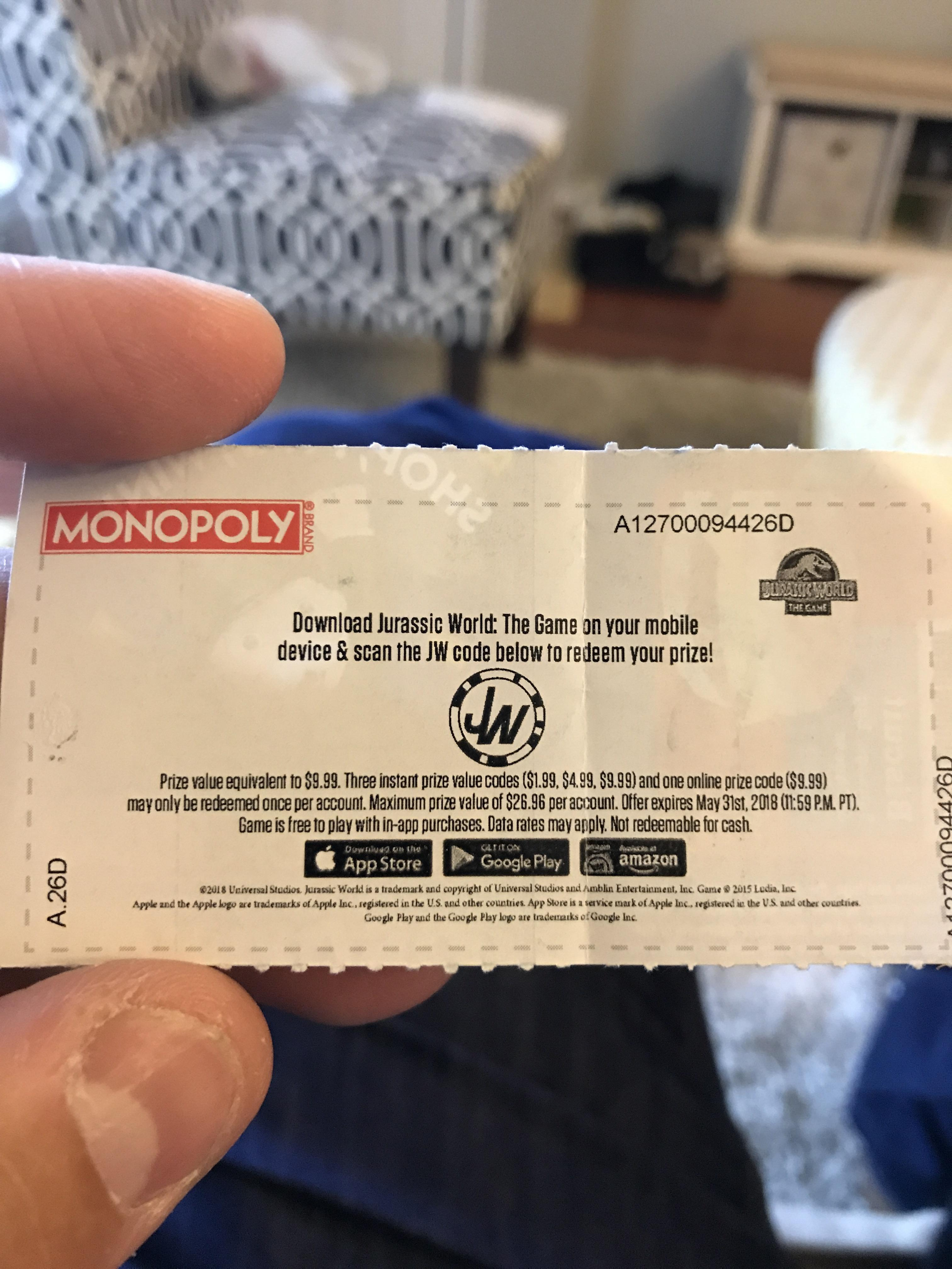 Images Safeway Monopoly Winners