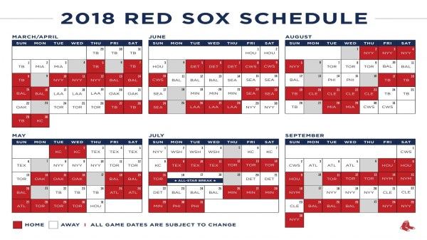 red sox schedule # 11