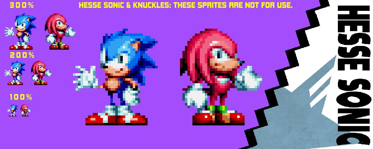 Hedgehog Sonic Sol Emerald Sprites