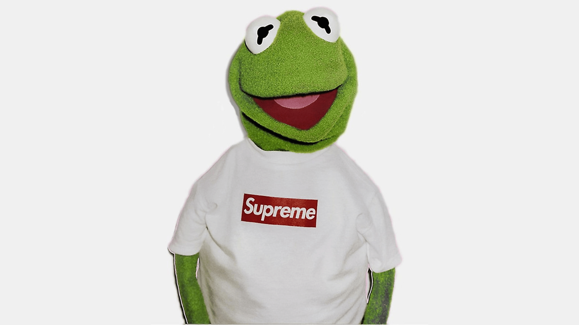 Kermit Supreme Wallpaper  1920x1080   Couldnt find one so made one     Kermit Supreme Wallpaper  1920x1080   Couldnt find one so made one myself