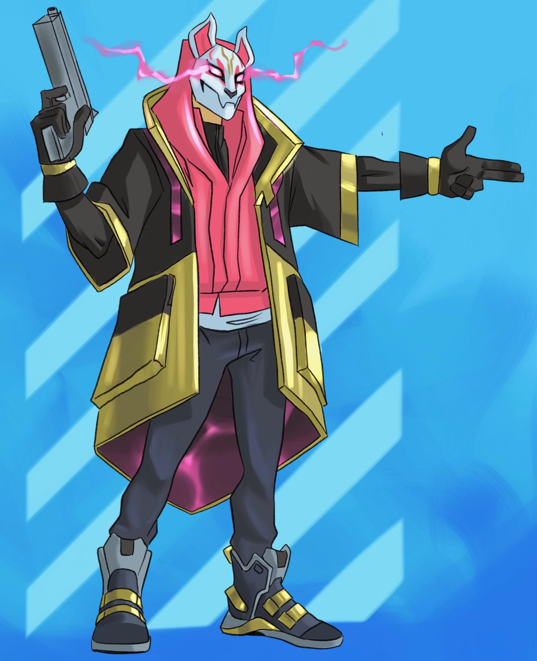 Max Level Drift Fortnite Drawing