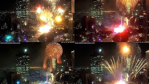 Mexico City Ushers in the New Year With Huge Fireworks Display