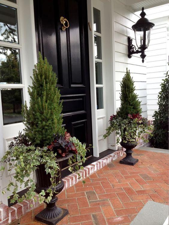 Tall Grey Planters