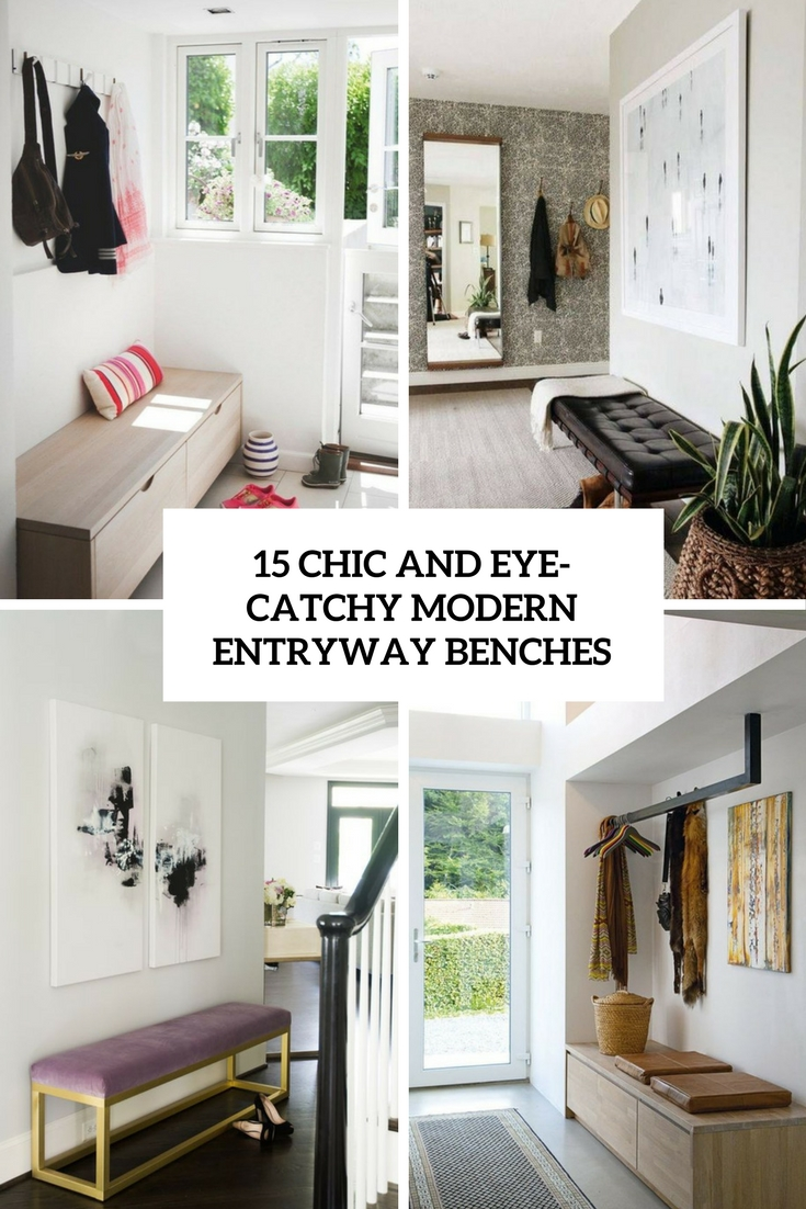 15 Chic And Eye Catchy Modern Entryway Benches Shelterness