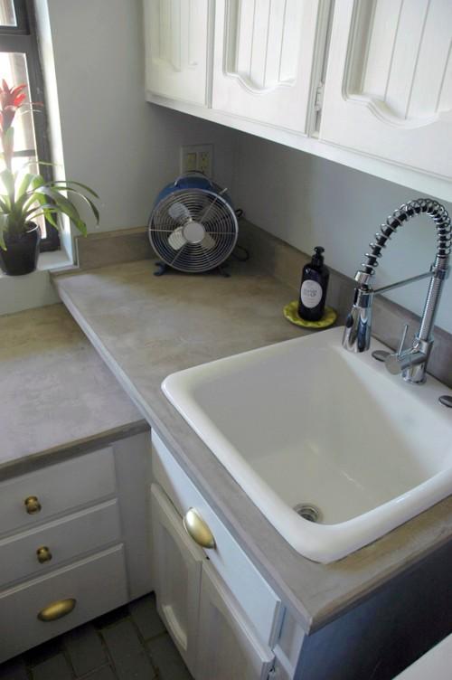 8 Minimalist Diy Concrete Countertops Shelterness