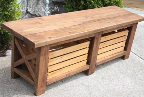 Metal Front Porch Bench