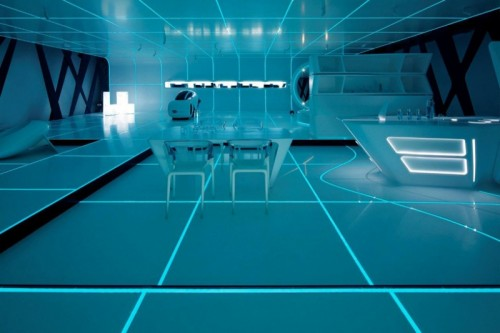 More Tron Inspired Futuristic Interiors Shelterness