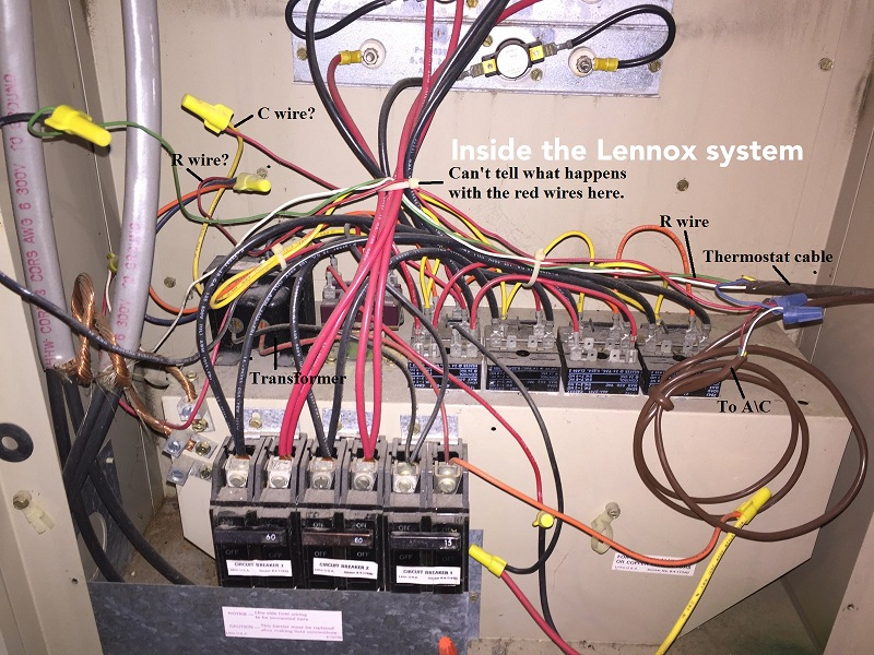How to add a C wire to an old Lennox system   Home Improvement Stack     enter image description here