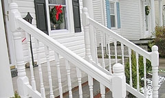 How Do I Secure Wooden Balusters To An Exterior Stair Railing | Exterior Wood Stair Railing | Stone | Timber | Second Floor | Landing | Step