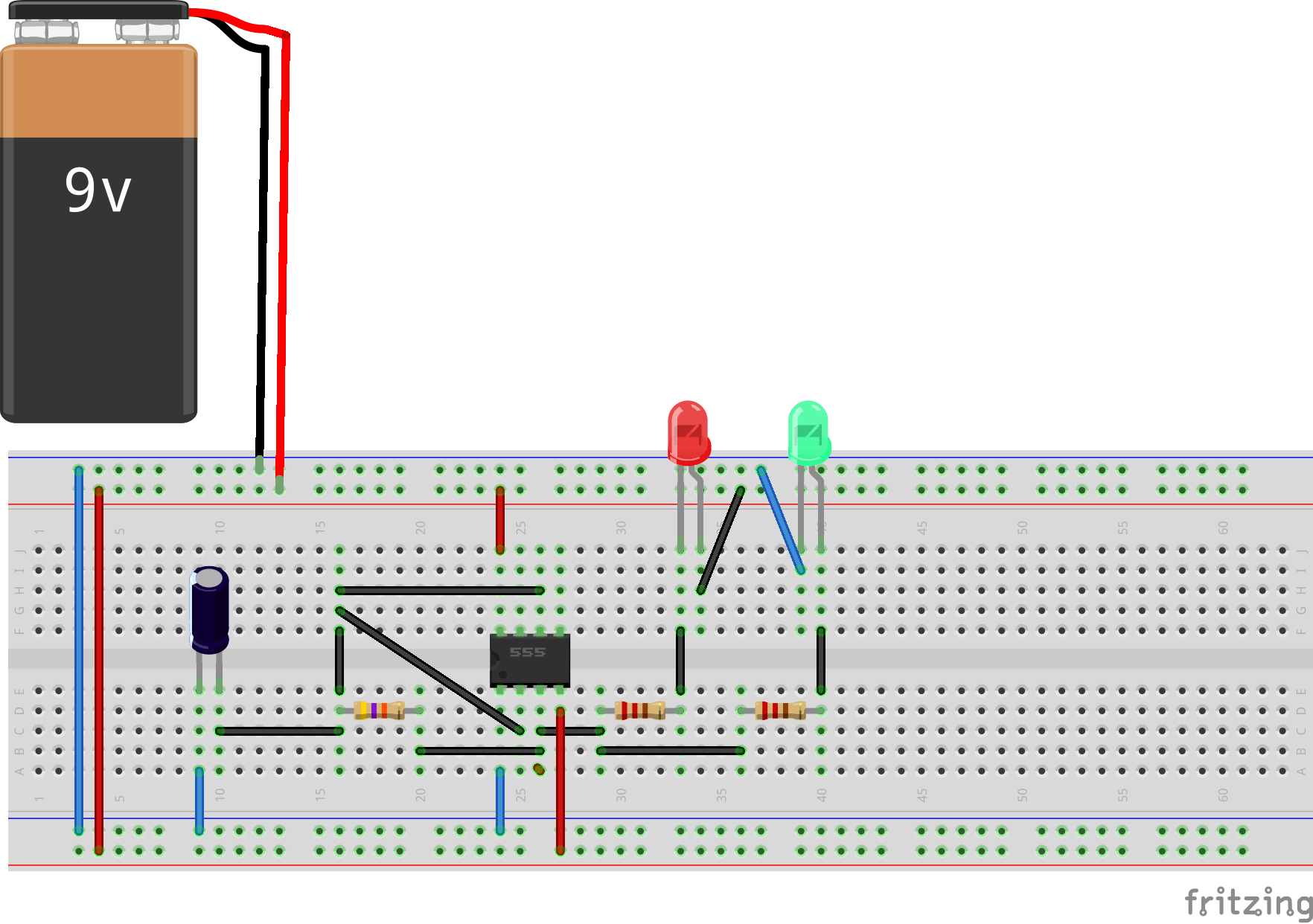 555 Led Flasher Circuit Ic Eleccircuitcom